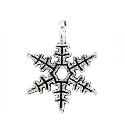 """Подвеска """"Снежинка"""" (ант.серебро), 24*18 мм, шт"""