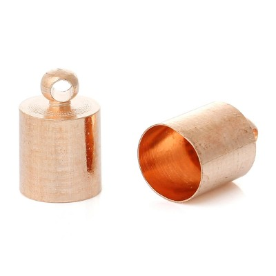 Наконечник - колпачок, 11x7mm, розово - золотой, шт