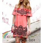 Платье женское с воланом, ПЖВ-007