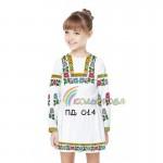 Платье для девочки с длинным рукавом PDD-14