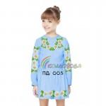 Платье для девочки с длинным рукавом PDD-3