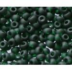Бисер 50150 / 159 (прозрачный матовый, чернильно-зеленый)