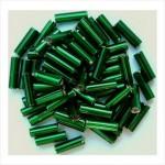 """Стеклярус 3"""" 57120 / 931 (сатиновый, зеленый)"""