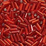 """Стеклярус 3"""" 97070 / 932 (сатиновый, красный)"""