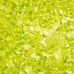 Бисер 01153 / 11800 (прозрачный, желто - салатовый)