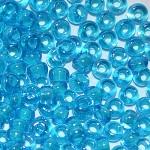 Бисер 61015 (двухцветный, лазурное стекло с голубой внутренней окраской)