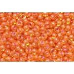Бисер 81016  (двухцветный, янтарное стекло с оранжевой внутренней окраской)