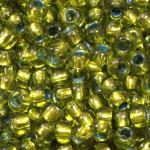 Бисер 59430 (прозрачный, зеленый с бронзовой серединкой)