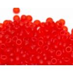 Бисер 90050 / 174 (прозрачный матовый, красный яркий)