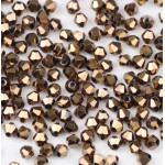 Бусина-биконус, Copper, 3 мм