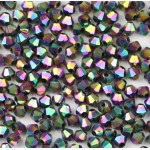 Бусина-биконус, Multicolor, 3 мм