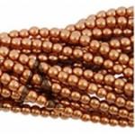 Бусина перламутровая, золотисто-коричневая, 4мм, шт