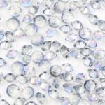 Бусина – биконус, Half blue, 4*6 мм, шт