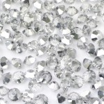Бусина – биконус, Light Silver, 4*6 мм, шт