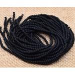 Граненые бусины, черные матовые, 2 мм, 10 шт