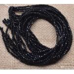 Граненые бусины, черные, 2 мм, 10 шт
