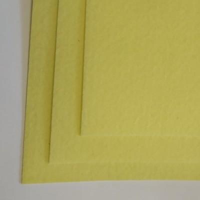 Корейский жесткий фетр 1,2 мм (20*30 см), светло - желтый