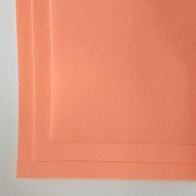 Корейский жесткий фетр 1,2 мм (20*30 см), ярко персиковый