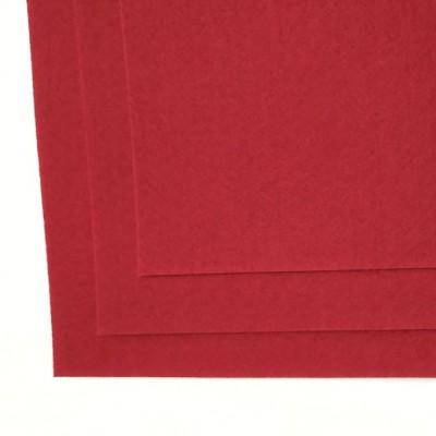 Корейский жесткий фетр 1,2 мм (20*30 см), красный