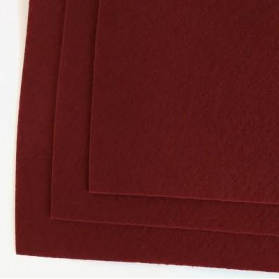 Корейский жесткий фетр 1,2 мм (20*30 см), пурпурно - красный
