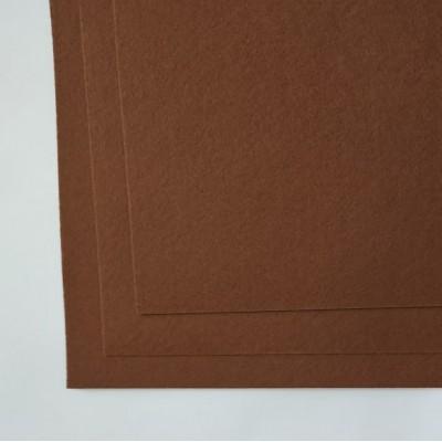 Корейский жесткий фетр 1,2 мм (20*30 см), светло - коричневый