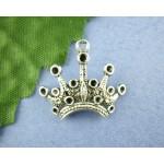 """Подвеска """"Корона"""" (ант.серебро), 18mm*24mm, 1 шт"""