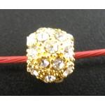 Филигрань шары, позолоченный фианит, 8mm