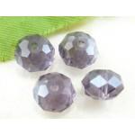 Бусина-рондель, Фиолетовый, 8*6мм