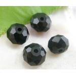 Бусина-рондель, Черный,  8*6 мм