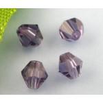 Бусина-биконус,  Фиолетовый, 4mm