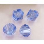 Бусина-биконус, Светло-синий, 4mm