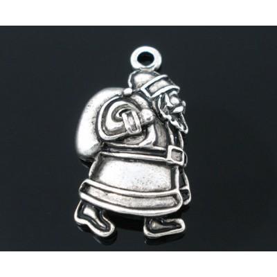 """Подвеска """"Дед Мороз"""" 24x13mm (серебро), 1 шт"""