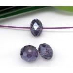 Бусина-рондель, фиолетовый, 4мм