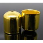 Наконечник - колпачок, 10x11mm, золотистый, шт