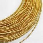Канитель  жесткая, светлое золото, 1,2 мм (50см)