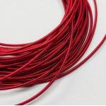 Канитель  жесткая, красная, 1 мм (50см)
