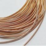 Канитель  жесткая, розовое золото, 1,2 мм (50см)
