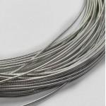 Канитель  жесткая, серебристая, 1 мм (50см)
