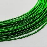 Канитель  жесткая, светло-зеленая, 1 мм (50см)