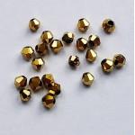 Бусина-биконус, Золотистый, 3 мм