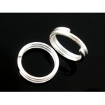 Колечки двойные (серебро), 5mm, 50 шт