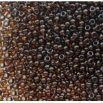 Бисер № 12 10140 (прозрачный, коричневый темный), 10 г