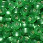 Бисер № 4   57100m (блестящий матовый, зеленый светлый), 10 г