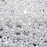 Бисер №6  57102 (перламутровый, белый полупрозрачный), 10 г