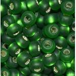Бисер № 8 57120м (блестящий матовый, зеленый), 10 г