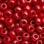 Бисер № 6   98190  (перламутровый, красно-бордовый), 10 г