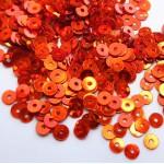 Пайетки, Оранжевые блестящие, 4 мм, 5 г