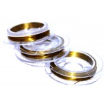 Проволока для бисера (золото) 0,25 мм (30 м)