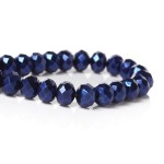 Бусина-рондель, Синий жемчуг,  8*6 мм