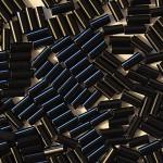 """Стеклярус 3"""" 23980 / 933 (натуральный, черный)"""